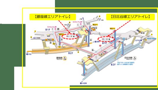 東京メトロ上野駅 構内図