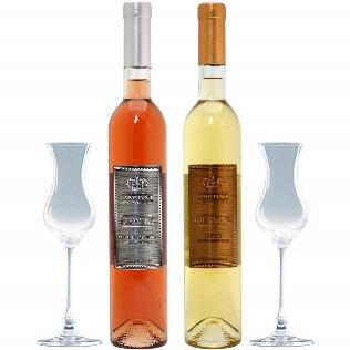 アイスワインペアセット((W05A03SE))(500mlx2本ワイン&グラス2客セット)