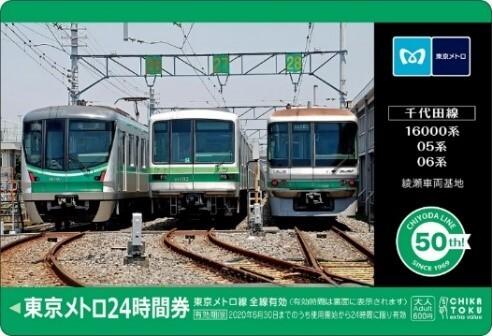 「千代田線オリジナル24時間券」(イメージ)