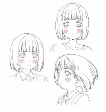 アニメ「スーパーカブ」線画設定・小熊