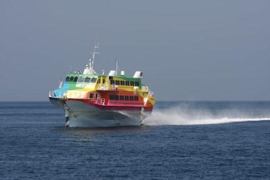 高速ジェット船セブンアイランド虹