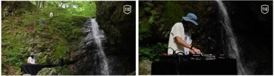 〈第一弾 J.A.K.A.M.さんによる武蔵御嶽神社の滝行の聖地「綾広の滝」での作品〉