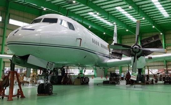 YS-11量産初号機(国立科学博物館) ザ・ヒロサワ・シティ(茨城県筑西市)で組立中