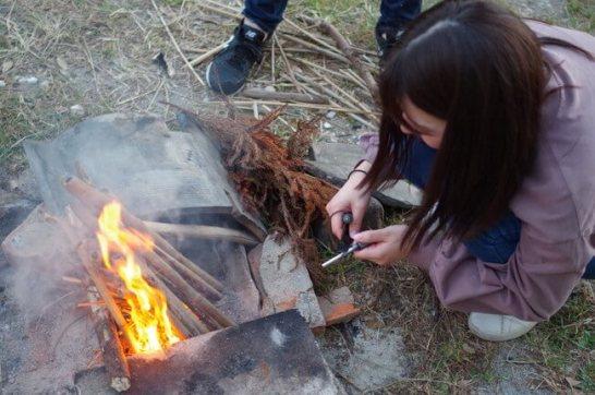 火起こし体験