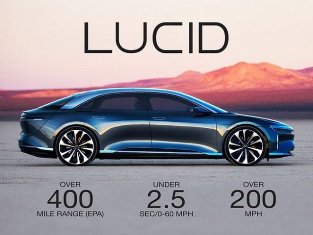 Lucid Air - самый мощный электрокар премиум-класса