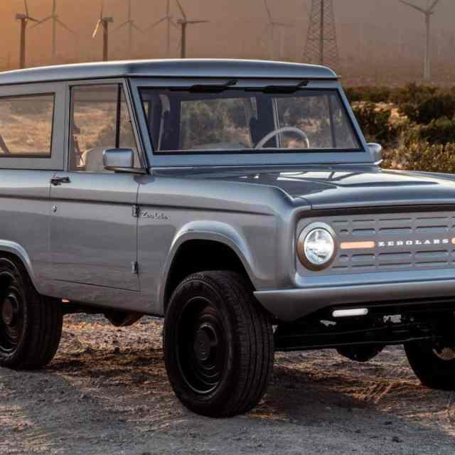 Превращенный в электромобиль Ford Bronco выставлен на лотерею