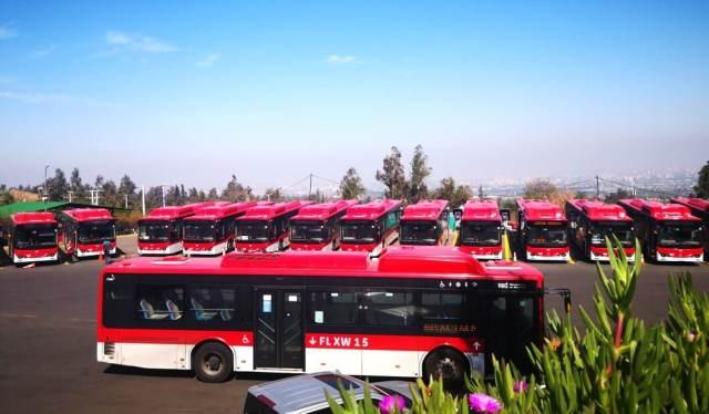 Чили пополнила автопарк столицы 150 электро-автобусами