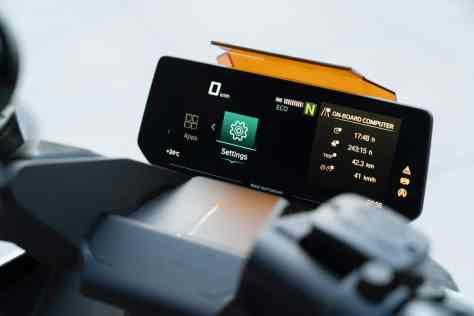 Электроскутер BMW дисплей