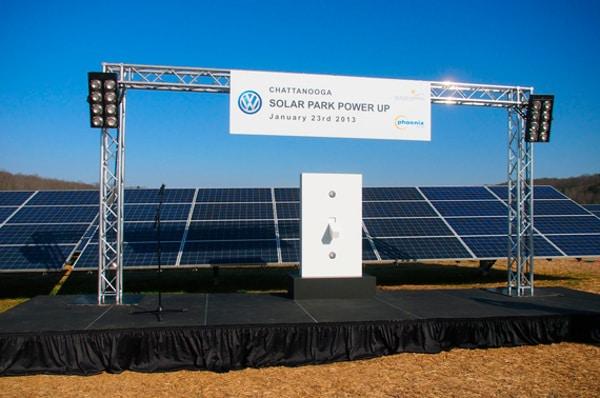 Volkswagen солнечная энергия