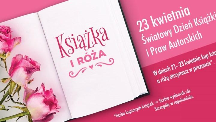 Biedronka rozdaje róże za darmo na Światowy Dzień Książki i Praw Autorskich