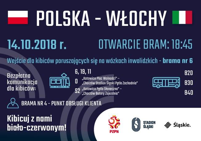 Darmowy transport na mecz Polska – Włochy