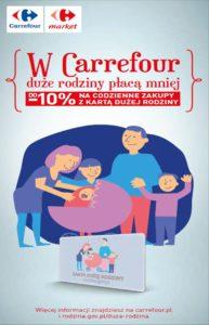 Z aplikacją Mój Carrefour duże rodziny płacą mniej!
