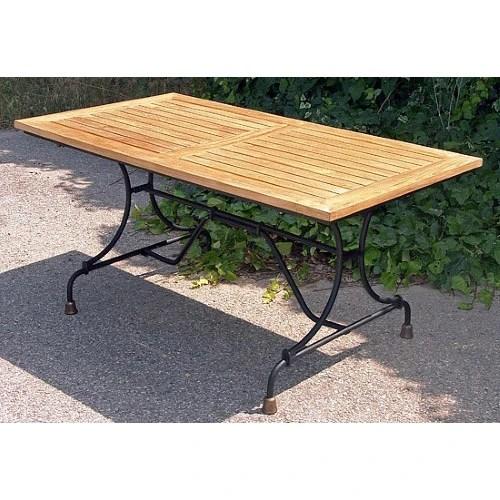 table de jardin teck fer forge 1921