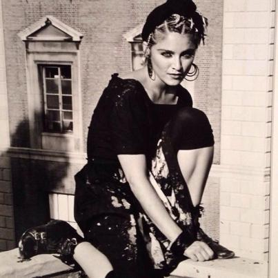 """If you look at Madonna, or Basquiat—they're compelling and have an intense gaze,"" said Dinerstein. ""Though the body seems to be relaxed, you still understand that within this person there is a complex artistic world."""