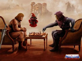 """MASTERS"" of the Universe at a game of chess."