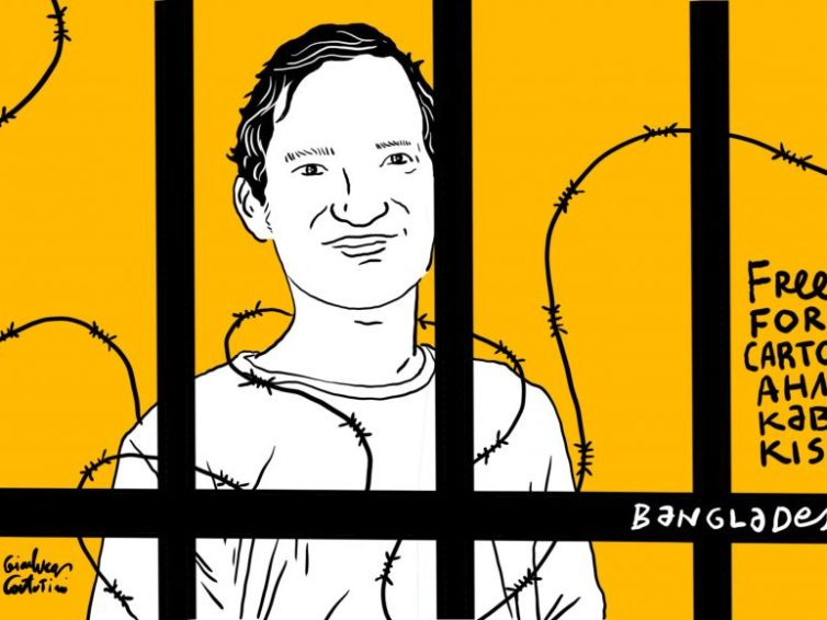 Bangladesh Jails Cartoonist for drawing The Prime Minister