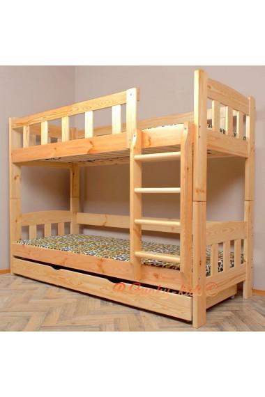 lit superpose en bois massif inez avec tiroir 200x80 cm