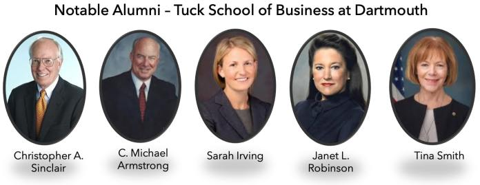 tuck mba notable alumni
