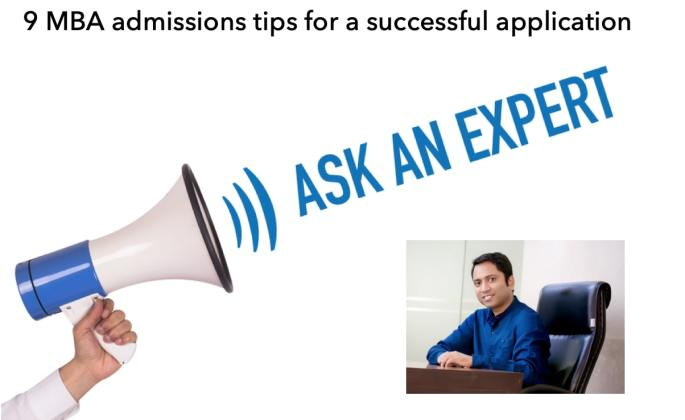 MBA admissions tips from an expert