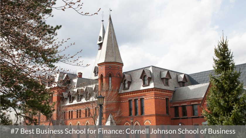 Best Business School for Finance #7 - Cornell Johnson- Top MBA Program in Finance