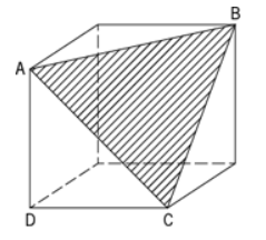 The figure above shows a piece of cheese with a corner cut off to expose plane surfaceABC. What is the area of surfaceABC? – OGQR 2020 Question #221 with Solution