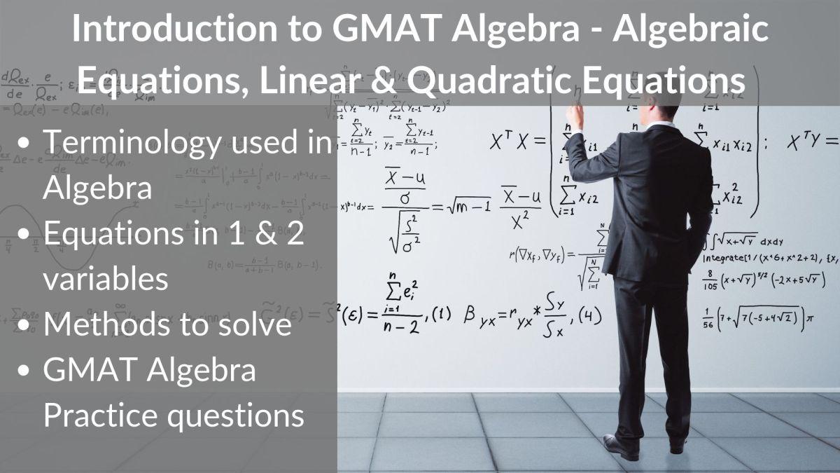 Introduction to GMAT Algebra