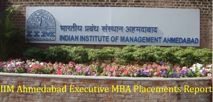 IIM Ahmedabad executive mba placements report