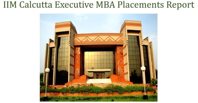 IIM Calcutta executive MBA placements report