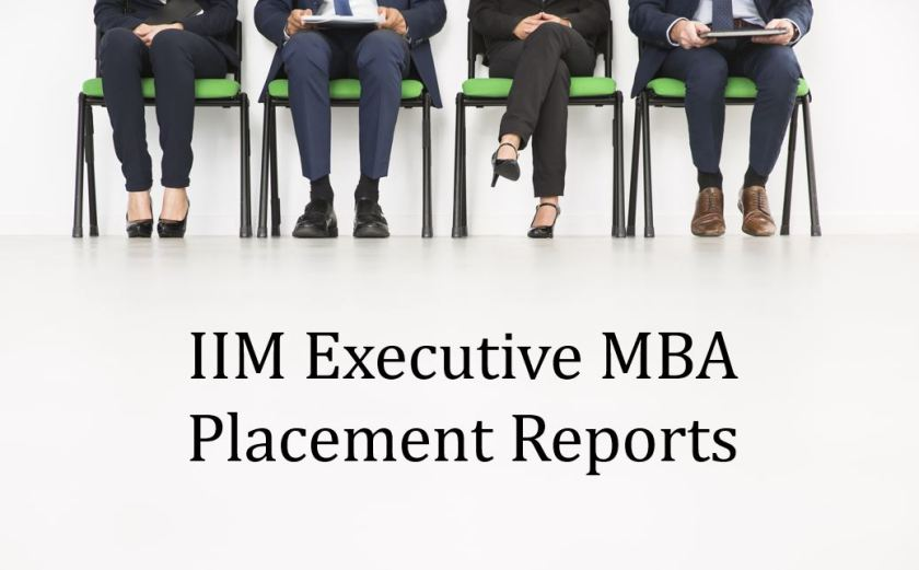 IIM Executive MBA Placement reports