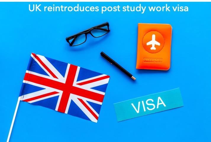 UK work visa post study work visa reintroduced by UK government