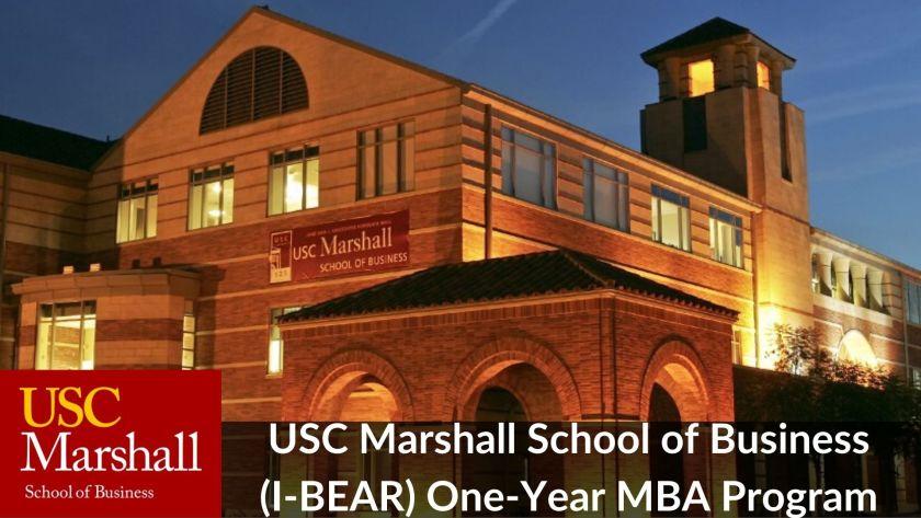 USC Marshall 1-Year MBA Program