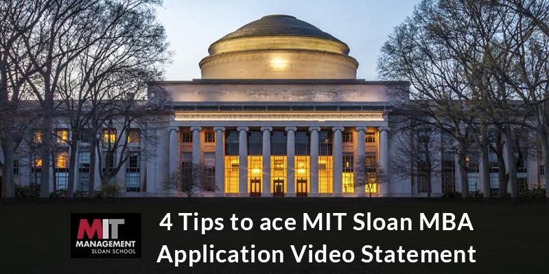 MIT Sloan MBA Application Video Statement