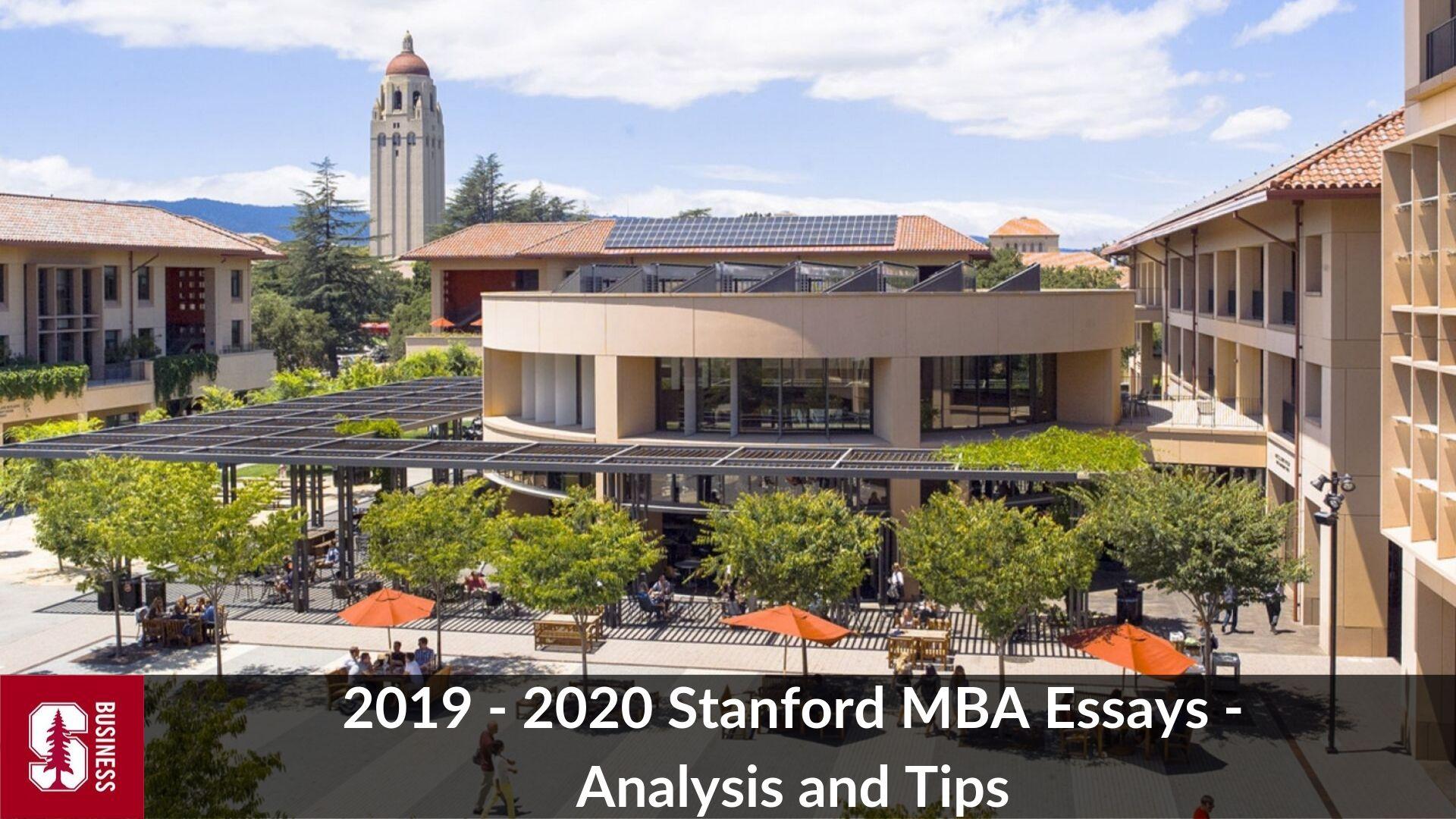 Stanford business school essays