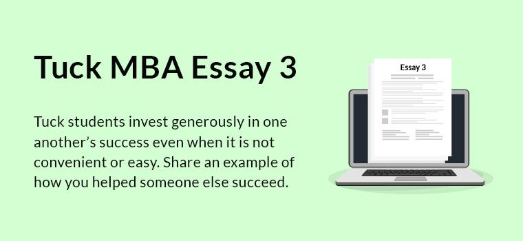Tuck MBA Essay 3 Analysis