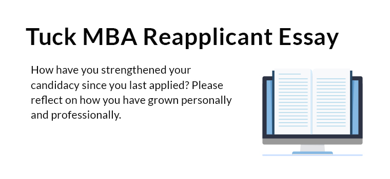 Tuck MBA Re-applicant Essay Analysis