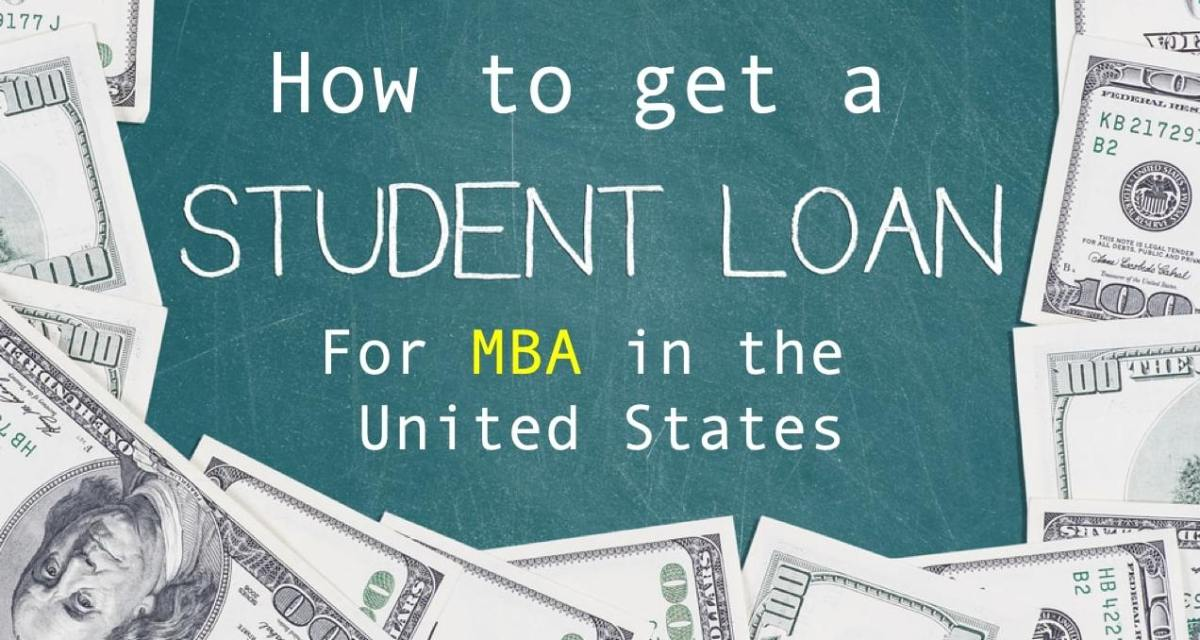 How to get MBA student Loan to study in the US