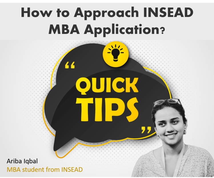 how to approach INSEAD MBA application