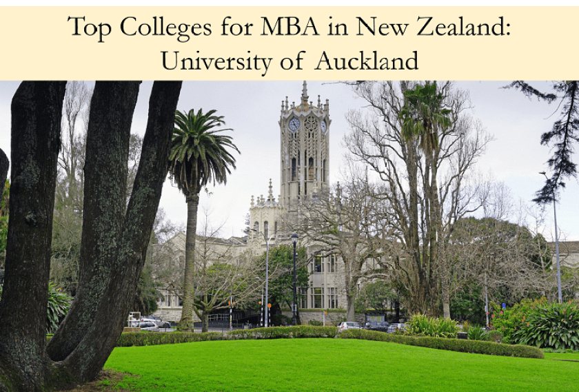 University of Auckland top colleges for mba