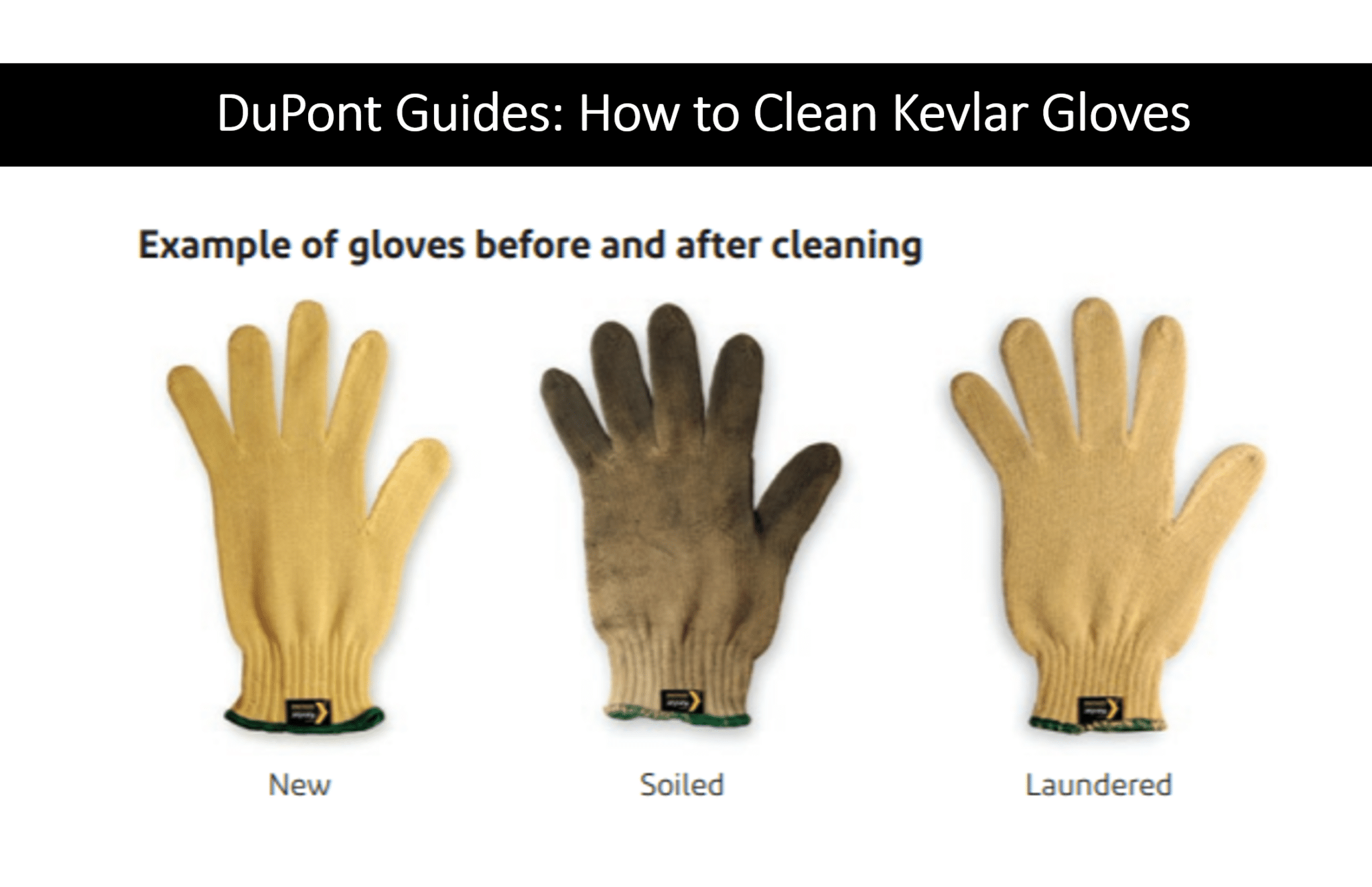 DuPont Kevlar Cut-Resistant Gloves: Laundering Guide Available