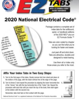 NEC Tabs – v 2020
