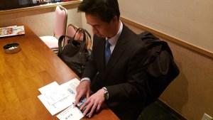 推薦料の受取|森田ひろゆき|自由民主党推薦東大和市議会議員選挙|