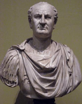 Tito Flavio Sabino Vespasiano, emperador romano, busto
