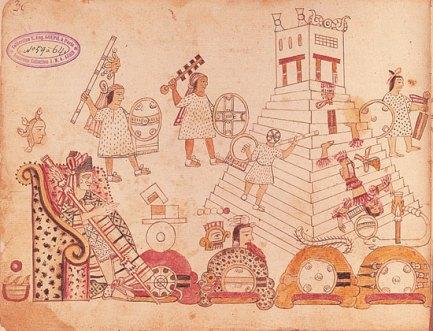 Representación de la invasión a Tlatelolco