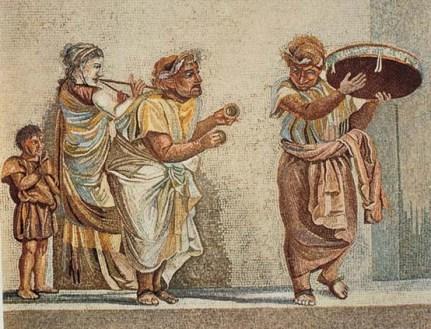 En la comedia romana se incluyo en muchos casos la pantomima