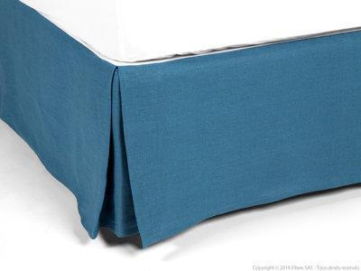 Cache sommier bleu