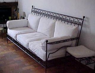 Canapé en fer forgé pas cher
