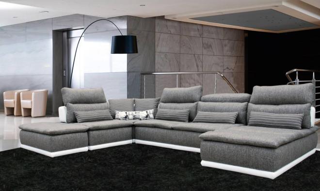 Canape Cuir Et Tissus Design - Canapé tissu design