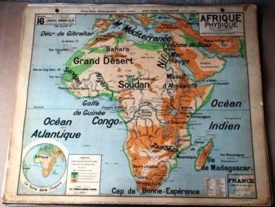 Carte géographique vintage