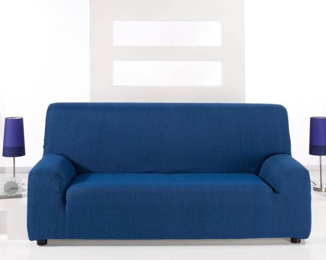 Housse canapé bleu