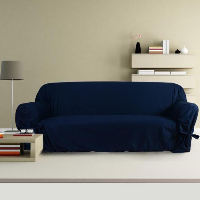 Housse de canapé bleu